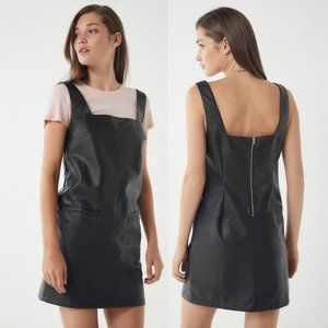 Urban Outfitters | NWT Faux Leather Pinafore Dress